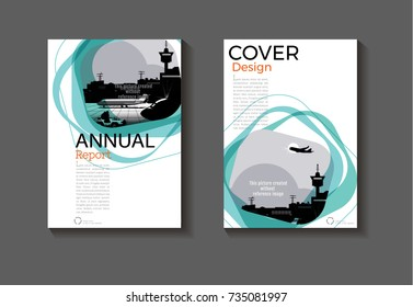 Emerald green modern cover design modern book cover abstract Brochure cover  template,annual report, magazine and flyer layout Vector a4