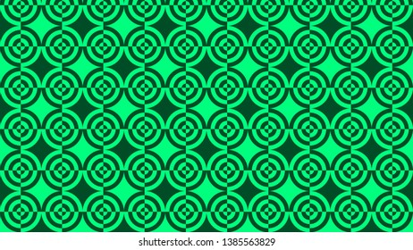 Emerald Green Quarter Circles Pattern