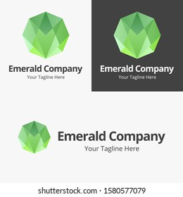 Emerald Logo, Emerald Abstrack, Jewerly