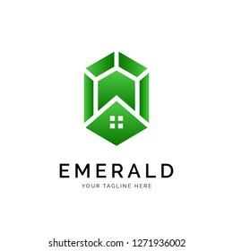 Emerald Logo concept. Creative Minimal design template. Symbol for Corporate Business Identity. Creative Vector element
