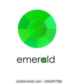 Emerald. Logo symbol for jewelry store
