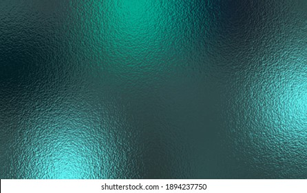 Emerald metallic effect. Turquoise texture foil. Background with glitterer metal effect foil. Blue green surface. Abstract teal backdrop glitter metal plate. Metallic vivid design for prints. Vector