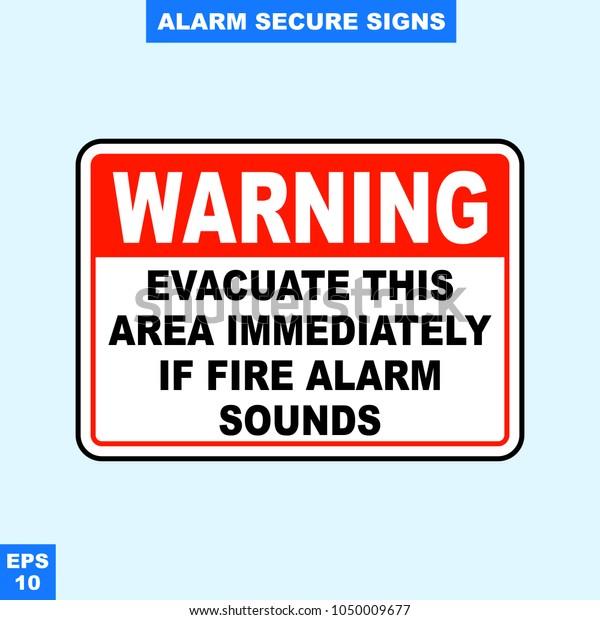 Emergency Alarm Security Alert Signs Vector Stock Vector