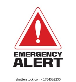 emergency alert sign, caution sign, alert label