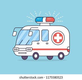Emergency ambulance car