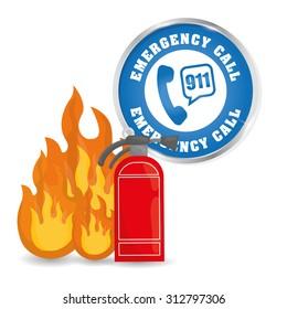 Emergency call  digital design, vector illustration 10 eps graphic