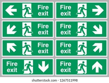 Emergency Escape Sign Symbols Exit
