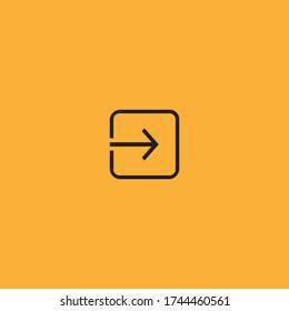emergency exit door vector. direction arrow sign. safety illustration