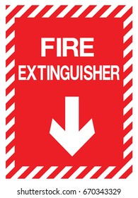 emergency exit, fire extinguisher sign