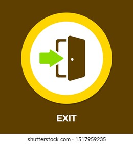 emergency exit sign, exit door icon, exit strategy - door entrance