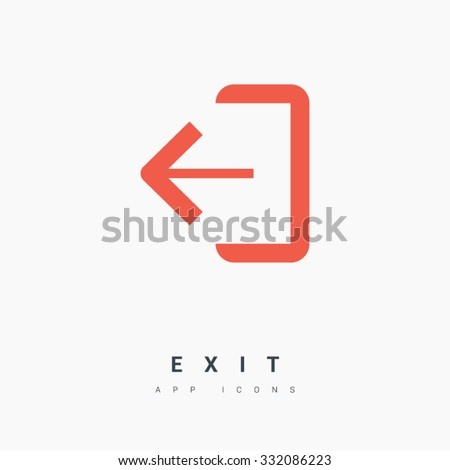 Emergency Exit Sign Icon Door Right Stock Vector Royalty Free