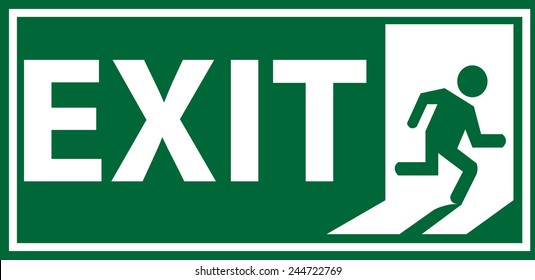 emergency exit sign images stock photos vectors shutterstock