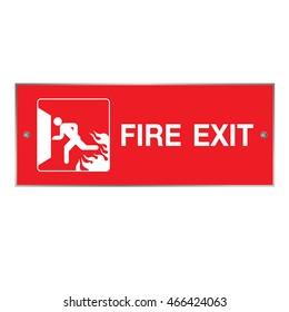 Emergency fire exit door and exit door.