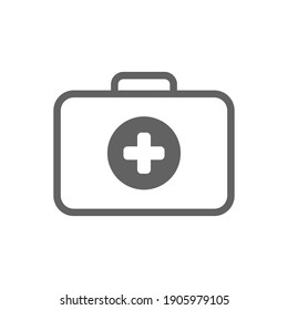 Emergency first aid icon. First Aid Kit Icon Vector Illustration. Medical Kit Icon. medical bag icon.