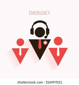 Emergency medical call center poster or art