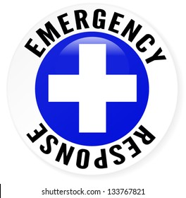 Emergency Response Badge Blue