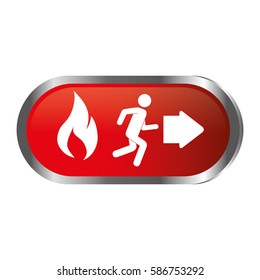 emergency route sign icon