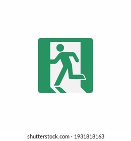 Emergency sign icon isolated on white background. Escape exit symbol modern, simple, vector, icon for website design, mobile app, ui. Vector Illustration