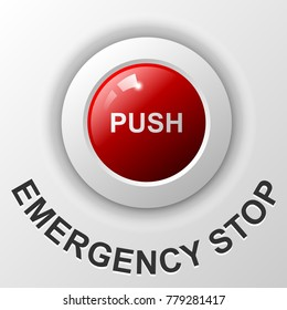 Emergency stop push button, Red button .