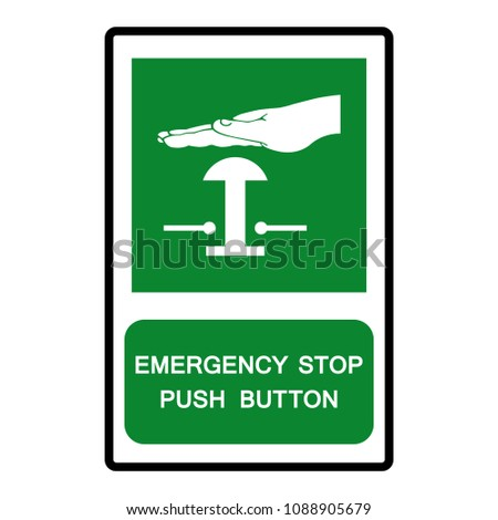 Emergency Stop Push Button Symbol Vector Stock Vector Royalty Free