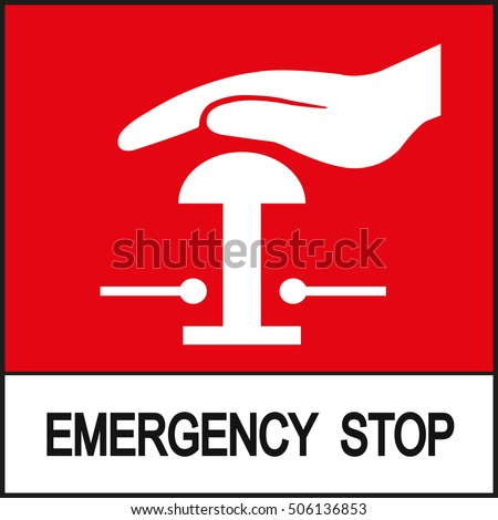 Emergency Stop Sign Stock Vector Royalty Free 506136853 Shutterstock