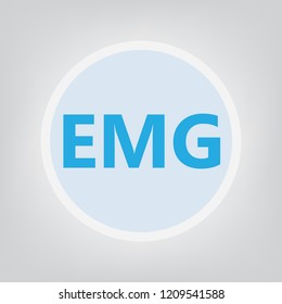 EMG (Electromyography) acronym- vector illustration
