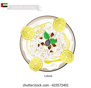 Emirati Cuisine, Laban or Traditional Yogurt Cheese.