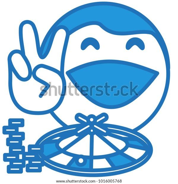 Vector De Stock Libre De Regalías Sobre Emoji Casino Winner W