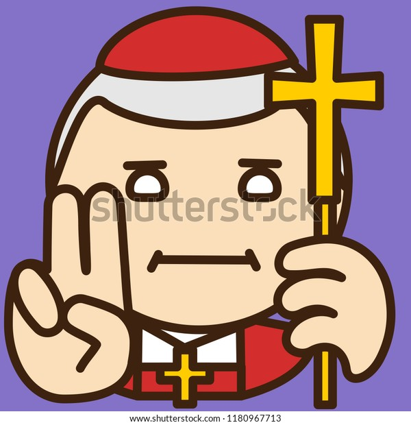 Emoji Catholic Christian Cardinal High Rank Stock Vector (Royalty