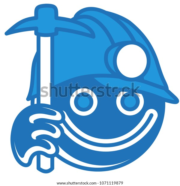 Emoji Dirty Coal Miner Holding Mining Stock Vector (Royalty