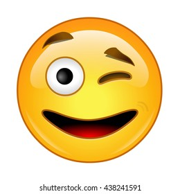 Emoji Wink Images, Stock Photos & Vectors | Shutterstock
