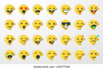 Emoji / Emoticon Sticker Set