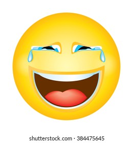 Emoji Emoticon In Tears Laughing Expression Face Character Smiley Avatar Cartoon