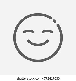 Emoji face smiley icon line symbol. Isolated vector illustration of happy sign concept for your web site mobile app logo UI design.