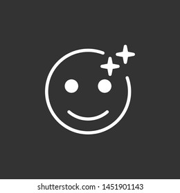 Emoji filter social media icon isolated on dark background. Filter symbol modern simple vector icon for website or mobile app