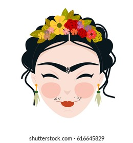 Emoji Frida Kahlo Cute