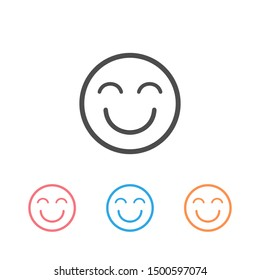 Emoji Happy Icon Set Vector Illustration