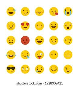 Emoji icon set design vector