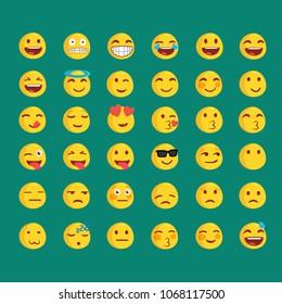emoji icon set . vector