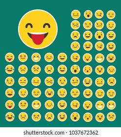 Emoji icon . Emoji icon set . Vector illustration