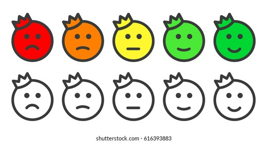 Emoji Icons Prince Crown Emoticons Rate Stock Vector Hd Royalty