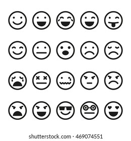 Emoji icons set. Smiley images,