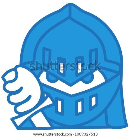 emoji medieval knight shining armor helmet stock vector royalty
