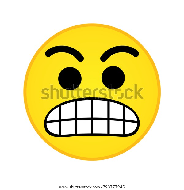 Emoji Nervous Icon Stock Vector (Royalty Free) 793777945