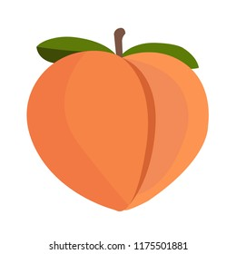 Emoji peach fruit vector