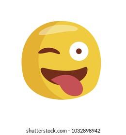 Emoji rogue. Isolated Vector Illustration. Flat design