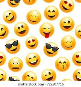 emoji seamless pattern vector smiley 260nw 722207716