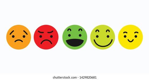 Emoji set icon symbol vector