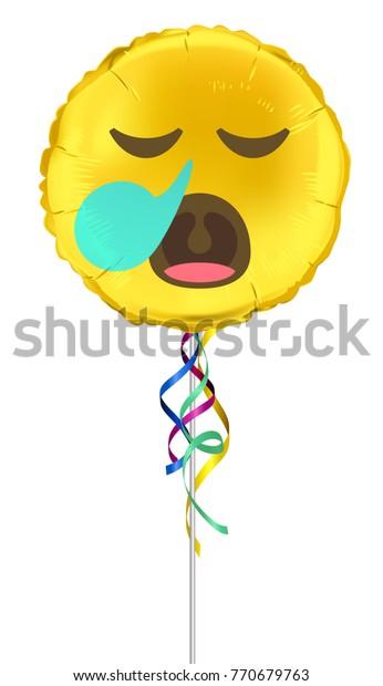 Emoji Sleepysnot Bubble Face On Foil Stock Vector (Royalty Free