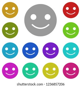 emoji smile icon in multi color. Simple glyph vector of web set for UI and UX, website or mobile application